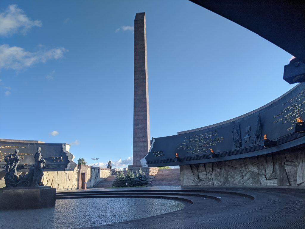 Монумент героическим защитникам Ленинграда 1. Сентябрь 2020